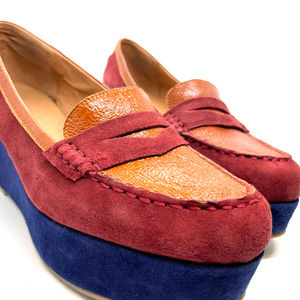Pilcro and the Letterpress colorblock wedge size 9